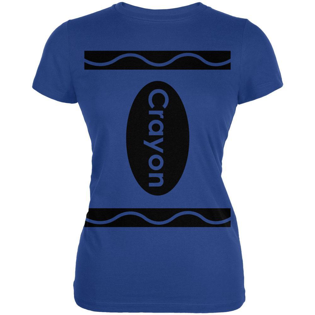 Crayon Costume Blue Juniors T-Shirt