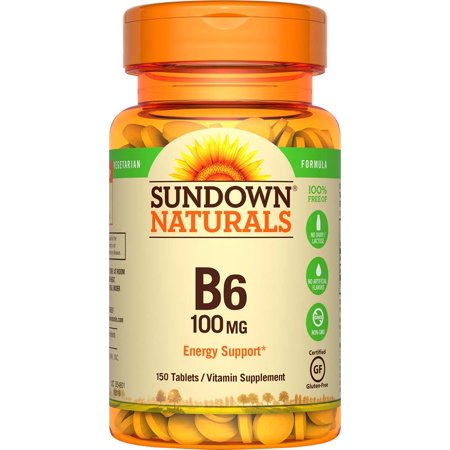 Sundown Naturals B6 Vitamin Supplement Tablets, 100mg, 150