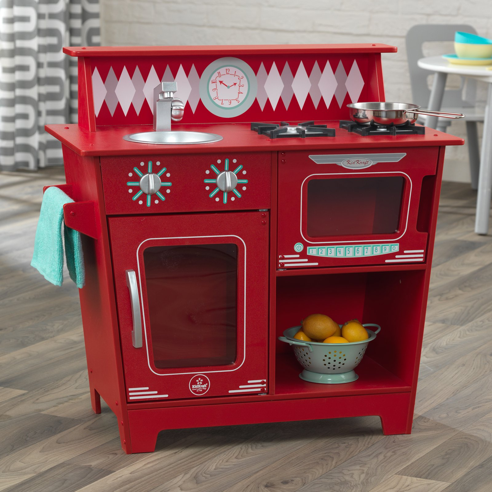 KidKraft Classic Kitchenette, Red by KidKraft