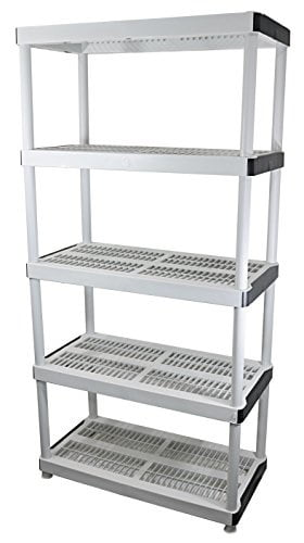 Hdx 5 Shelf 36 In W X 72 In H X 18 In D Plastic Ventilated Storage Shelving Unit Walmart Com Walmart Com