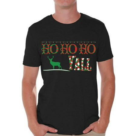 869d5442 Awkward Styles Ho Ho Ho Yall Christmas Tshirts for Men Xmas Reindeer Holiday  Shirt Ugly Christmas T-Shirt Funny Tacky Party Holiday Top Ho Ho Ho Men's  ...