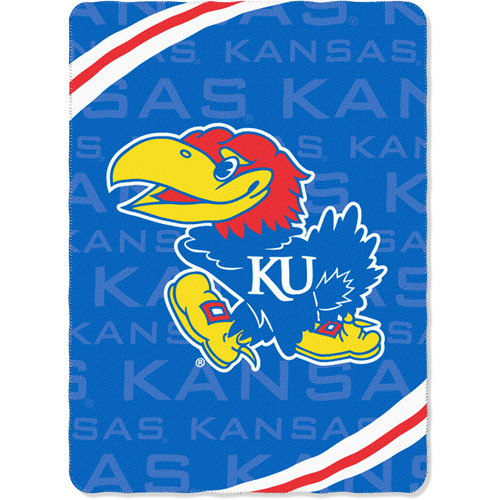 """NCAA Kansas Jayhawks 66"""" x 90"""" Fleece Blanket"""