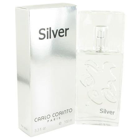 (pack 3) Carlo Corinto Silver Eau De Toilette Spray By Carlo Corinto 3.4 oz - image 1 de 2