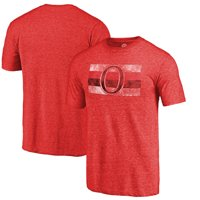 Ottawa Senators Fanatics Branded Throwback Vintage Logo Tri-Blend T-Shirt - Red