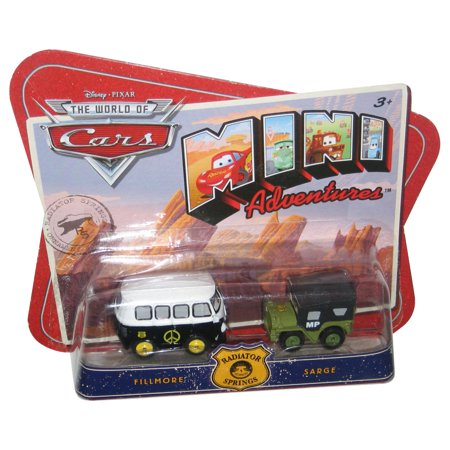 Disney Pixar World of Cars Mini Adventures Fillmore & Sarge Toy Car Set](Adventure Time Car Accessories)