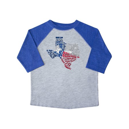 Texas Word Salad- state outline with flag Toddler