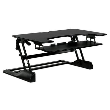Mount-It! Sit-Stand Desk Converter 48 Inch Extra Wide (MI-7961)