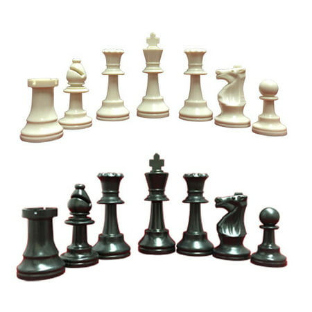 Heavy Weighted School Club Tournament Chess Set Blackwhite 34