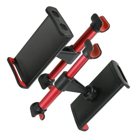 Car Back Seat Phone Holder 360 Degree Rotating Adjustable Car Mount Headrest Bracket Backseat Stand for Tablet