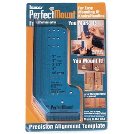 98201 Perfect Mount Precision Allignment Template for Cabinet Hardware, Product is manufactured in United States By Laurey Perfect Mount Template