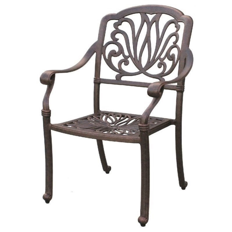 Darlee Elisabeth Patio Dining Chair in Antique Bronze (Set of 4)
