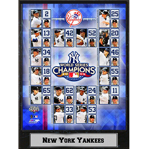 MLB New York Yankees Champs Photo Plaque, 9x12