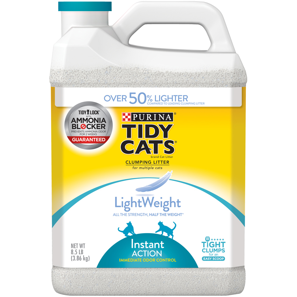 Purina Tidy Cats LightWeight Instant Action Multiple Cats Clumping Cat Litter - 8.5 lb. Jug