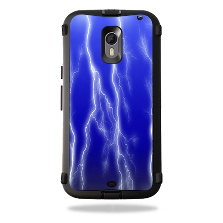 MightySkins Protective Vinyl Skin Decal for OtterBox Defender Moto X Pure Edition wrap cover sticker skins Lightning Storm
