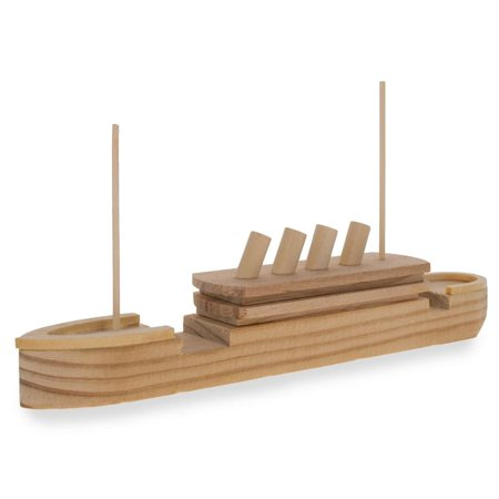 Blank Unfinished Wooden Titanic Building Model Kit 7.25 Inches](Wood Building Kits)