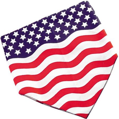 Petedge ZX013 14 Patriotic Bandanna 4th Of July/Stars and Stripes