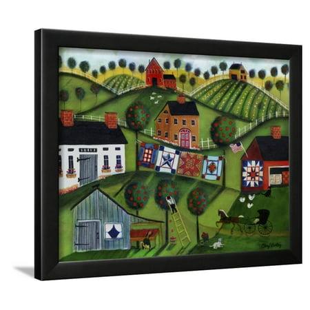 Amish Folk Art Quilts Framed Print Wall Art By Cheryl Bartley