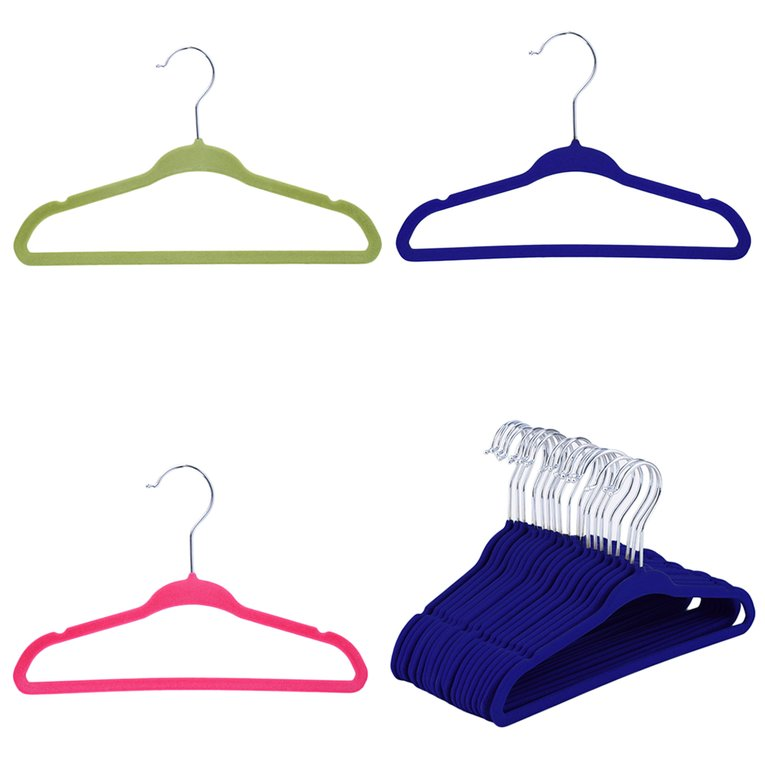 20pcs Non-Slip Kids Children Child Baby Coat Clothes Hangers Velvet Flocking