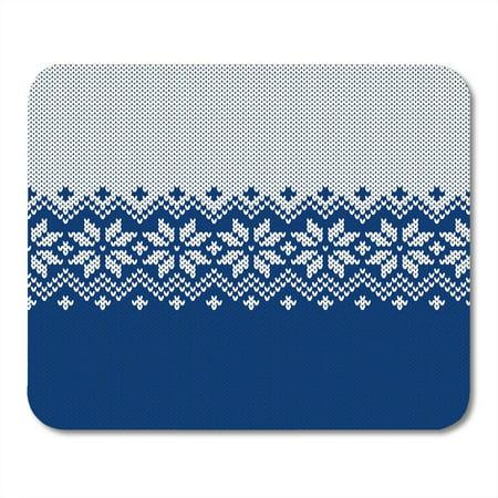 SIDONKU Blue Christmas Winter Sweater Fairisle Knitting Pattern Jumper Isle Fair Mousepad Mouse Pad Mouse Mat 9x10 inch ()