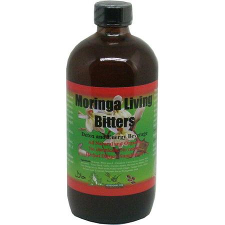 Herboganic Moringa Living Bitters Detox And Energy Beverage  Brown   16 Oz