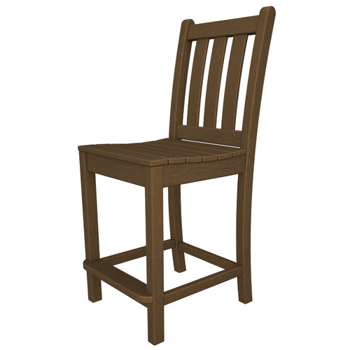 POLYWOOD Traditional 24'' Patio Bar Stool