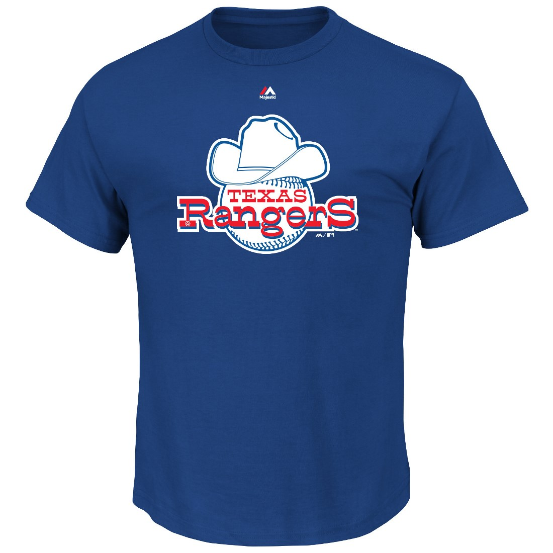 "Texas Rangers Majestic MLB ""Official Logo"" Cooperstown Men's S/S T-Shirt"