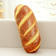 Pudcoco 3D Funny Pillow Simulation Bread Soft Lumbar Back Cushion Plush Toy