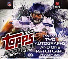 2014 Topps Football Cards Jumbo Packs Box 10 Jumbo Packs Per Box by