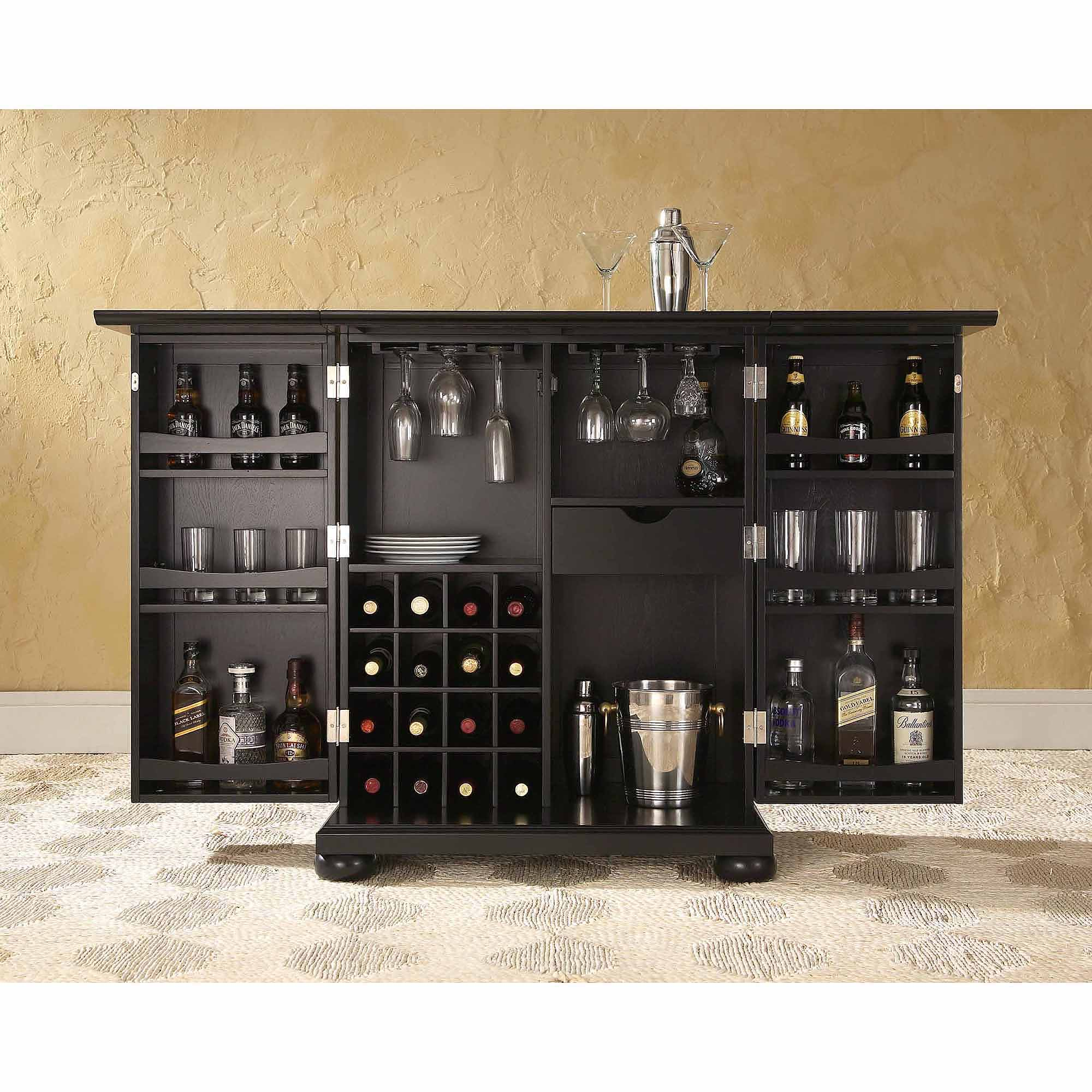 Crosley Furniture Alexandra Expandable Bar Cabinet - Walmart.com