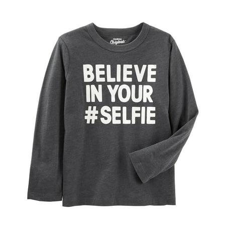 OshKosh B'gosh Little Boys' Be Yourself Tee, Believe in Your #Selfie, 7 Kids