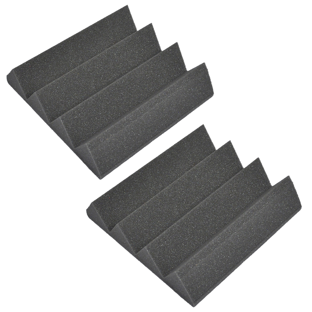 Seismic Audio 2 Pack of Charcoal 3 Inch Studio Acoustic Foam Sheets Sound Absorbing Tiles Charcoal - SA-FMDM3-Charcoal-2Pack