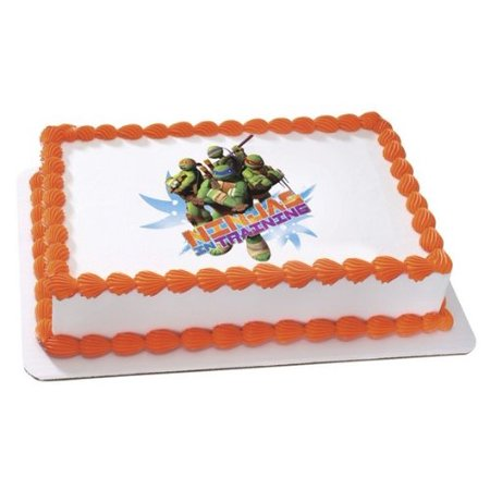 Turtle Cake Decorations (Teenage Mutant Ninja Turtles Edible Cake Topper Decoration, Easy to Use; Instructions on How to Apply Topper Included By Sweetn)