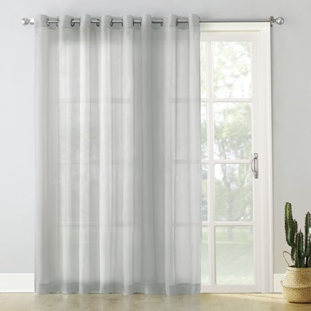 Sliding Window Sash - No. 918 Emily Extra-Wide Sheer Voile Sliding Door Patio Curtain Panel