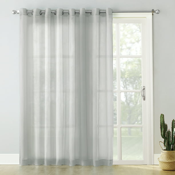 No 918 Emily Extra Wide Sheer Voile Sliding Door Patio Curtain Panel Walmart Com Walmart Com