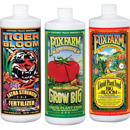 Fox Farm Trio Big Bloom, Tiger Bloom & Grow Big Soil 16 oz