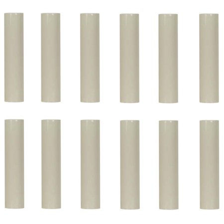 Creative Hobbies 4 Inch Tall Cream Plastic Candle Cover Sleeves Chandelier Socket Covers - Pack of 12 - Slip Over E12 Candelabra Base