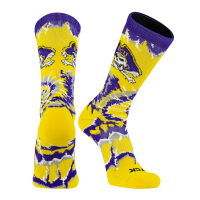 TCK ECU East Carolina Pirates Woodstock Tie Dye NCAA Crew Socks