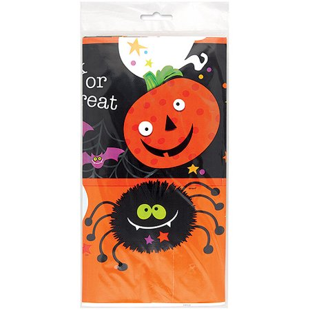 Halloween Smiley Symbols (Halloween 'Spooky Smiles' Plastic Table Cover)