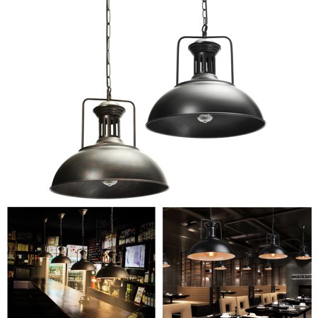 220V Industrial Metal Hanging Pendant Light Ceiling Light, Retro Vintage Lampshade Fixture Lighting For Bar Dining Living Room Cafe Home Decor