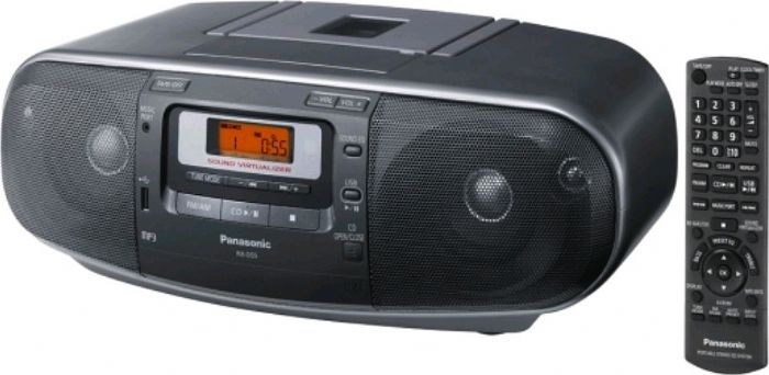Panasonic RXD55GCK Boombox 110-220v Cd Amfm Cass by Panasonic
