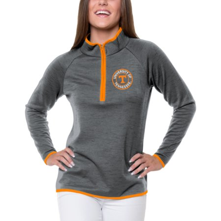 Women's Heathered Gray Tennessee Volunteers Double Ring 1/4-Zip Jacket](Ring Mistress Jacket)