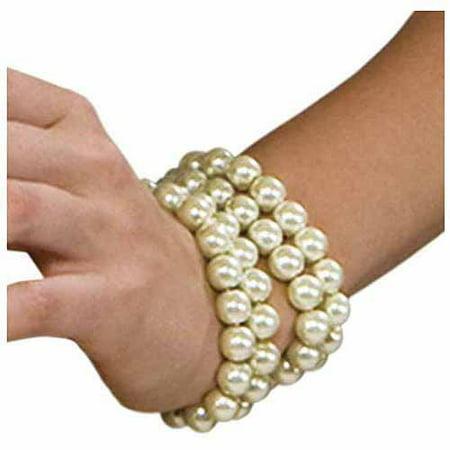 Multi-Pearl Bracelet Adult Halloween Accessory - Pearl's Liquor Bar Halloween