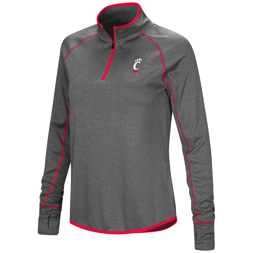 Womens Cincinnati Bearcats Quarter Zip Wind Shirt - S