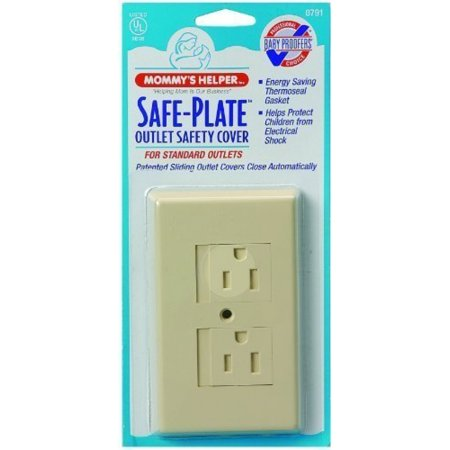 Mommys Helper Safe Plate Electrical Outlet Covers Standard, Almond (2-Pack) ()