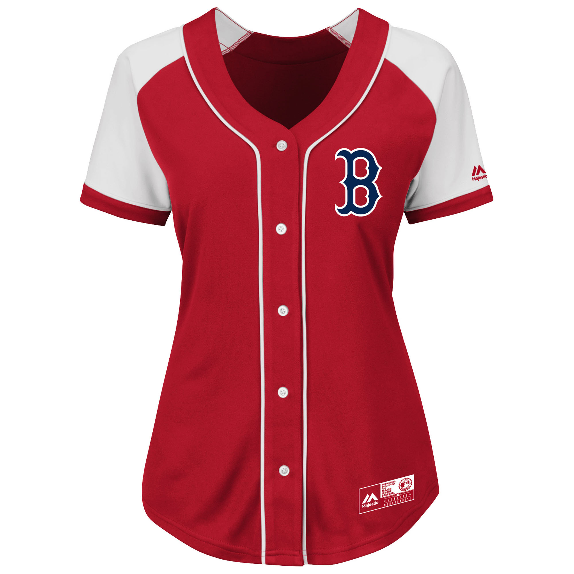 Boston Red Sox Majestic Women's Plus Size Fashion Replica Jersey - Red
