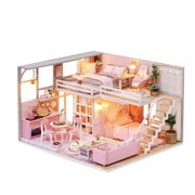 Creative gift diy cabin wood craft arts building model toy birthday gift girl heart Valentine's gift L025