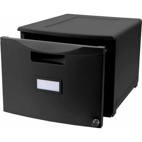 storex single drawer mini file cabinet with lock, legal/letter