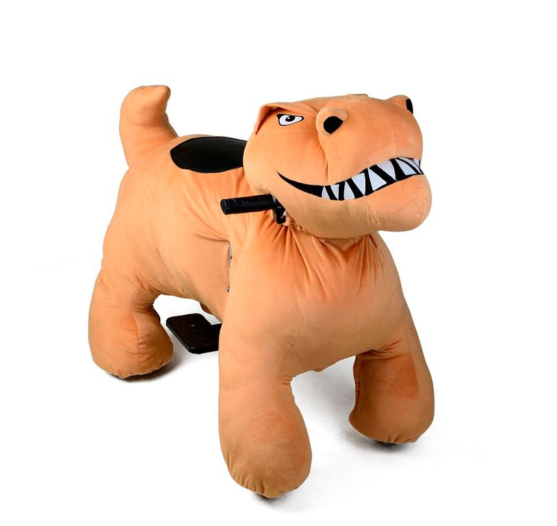 Motorized Plush Dinosaur Ride On Toy Coin Operated Electric Animal Scooter by