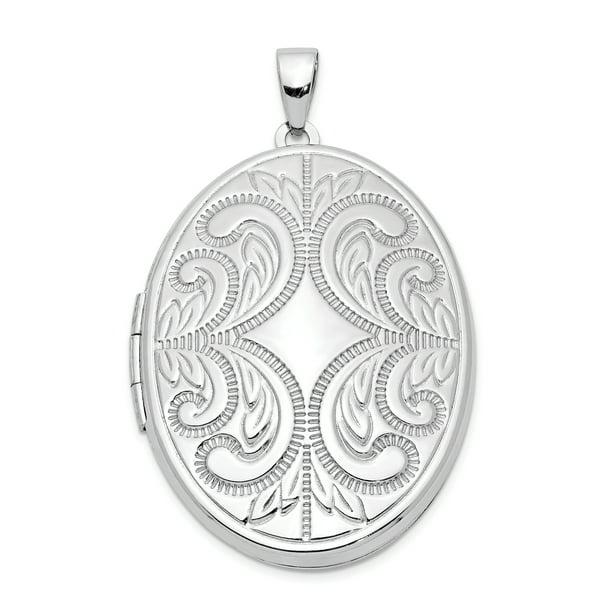 stunning vintage sterling silver scroll work locket pendant