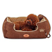 PLS Paradise Bolster Dog Bed with Pillow (Small 20Wx24L), Completely Removable Cover with Zipper, Machine Washable, Easy Clean, Durable